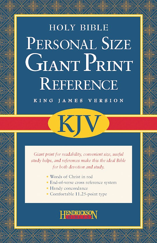 KJV Personal Size Giant Print Reference Bible-Black Bonded Leather (Value Price) | SHOPtheWORD