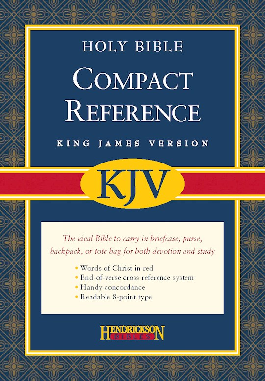 KJV Large Print Compact Reference Bible-Black Bonded Leather (Value Price) | SHOPtheWORD
