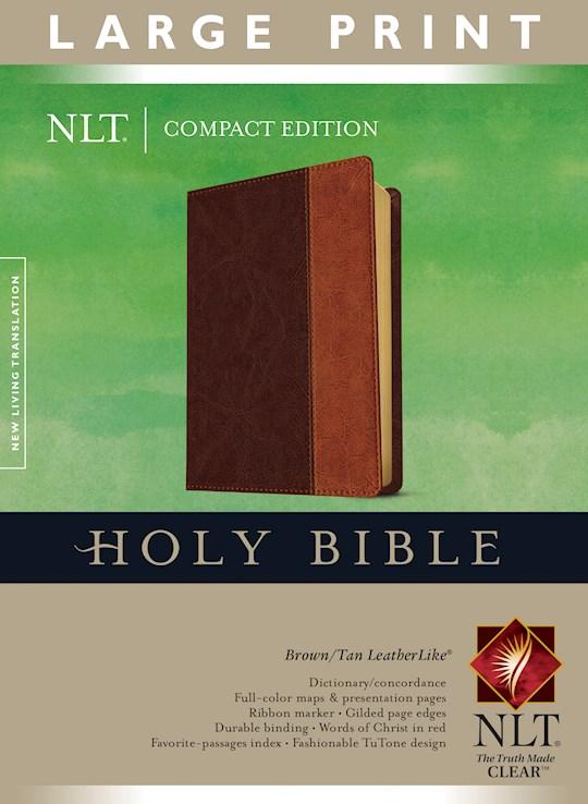 NLT Compact Edition Bible/Large Print-Brown/Tan TuTone | SHOPtheWORD