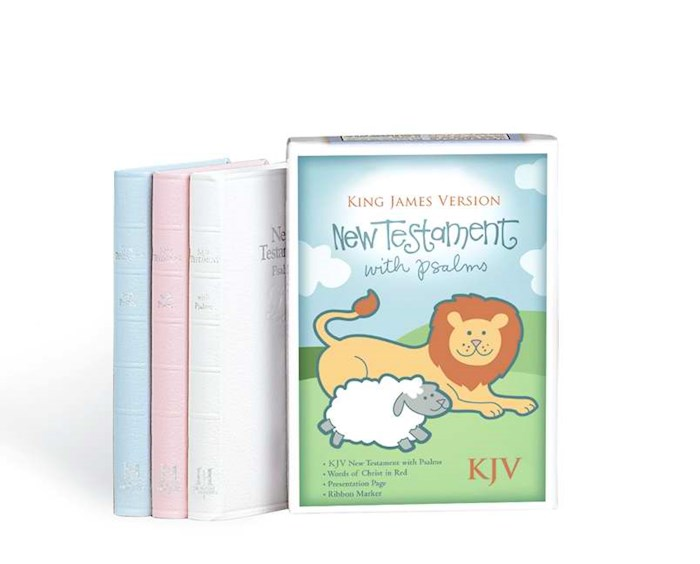 KJV Baby's New Testament w/Psalms-Blue Imitation Leather | SHOPtheWORD