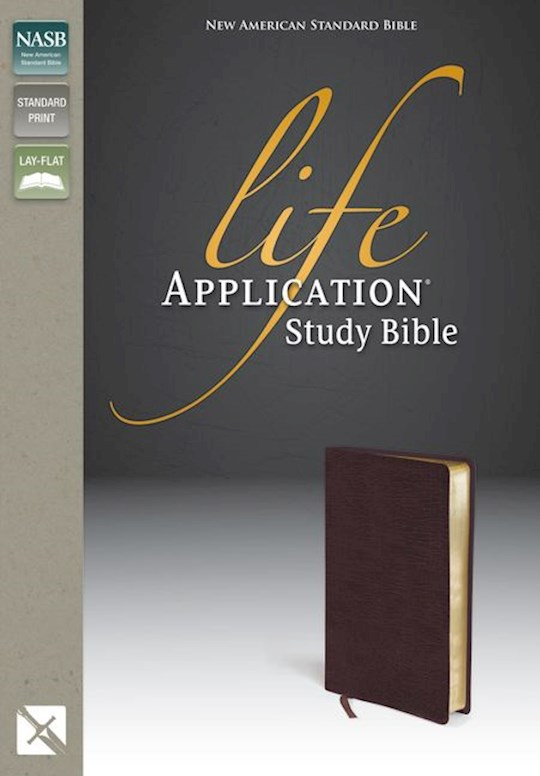 NASB Life Application Study Bible-Burgundy Bonded Leather   SHOPtheWORD