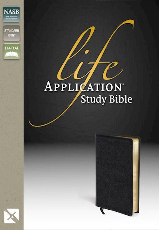 NASB Life Application Study Bible-Black Bonded Leather | SHOPtheWORD