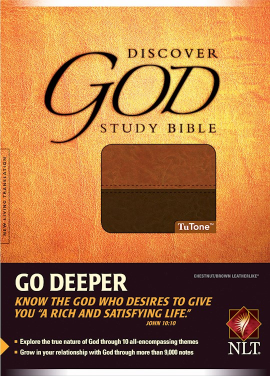 NLT Discover God Study Bible-Chestnut/Brown TuTone | SHOPtheWORD