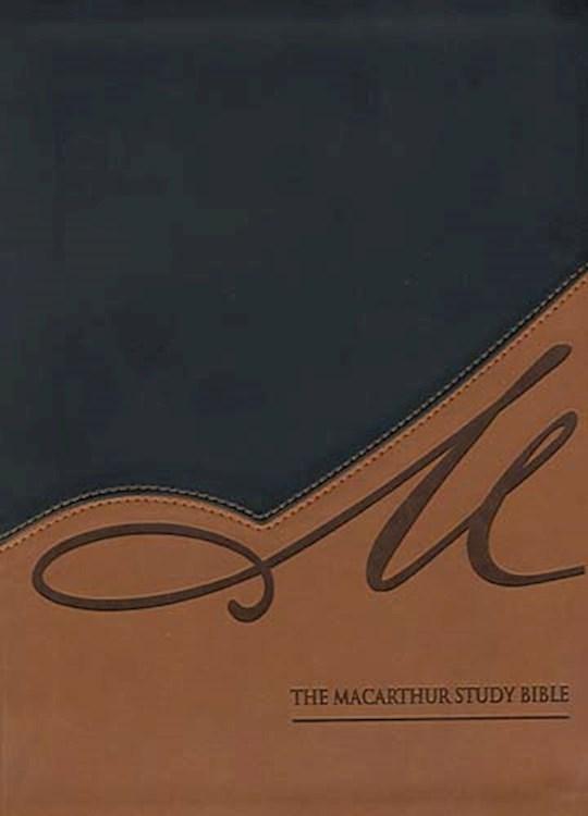 NASB MacArthur Study Bible-Black/Terracotta LeatherSoft | SHOPtheWORD