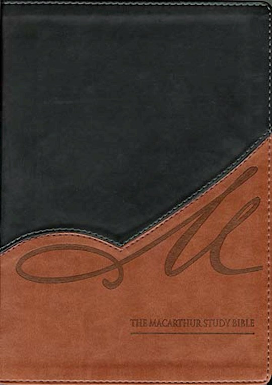 NKJV MacArthur Study Bible (Revised)-Black/Terracotta LeatherSoft | SHOPtheWORD