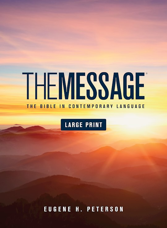 Message/Large Print Bible (Numbered Edition)-Hardcover | SHOPtheWORD