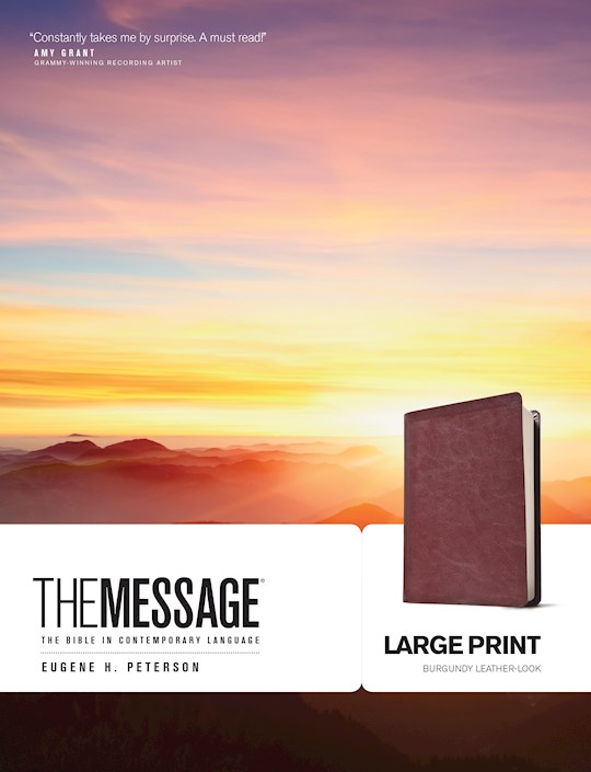 Message/Large Print Bible (Numbered Edition)-Burgundy LeatherLook | SHOPtheWORD