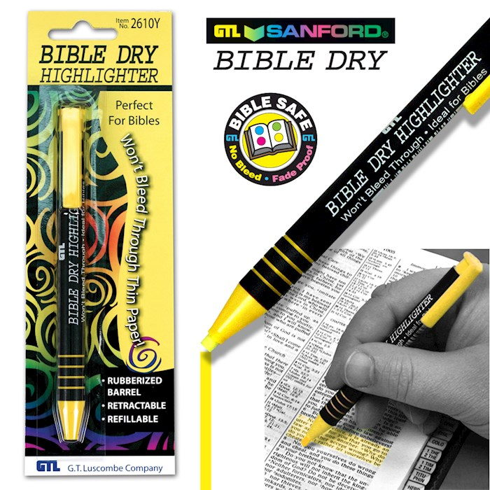 Highlighter-Bible Dry-Yellow (Carded) | SHOPtheWORD