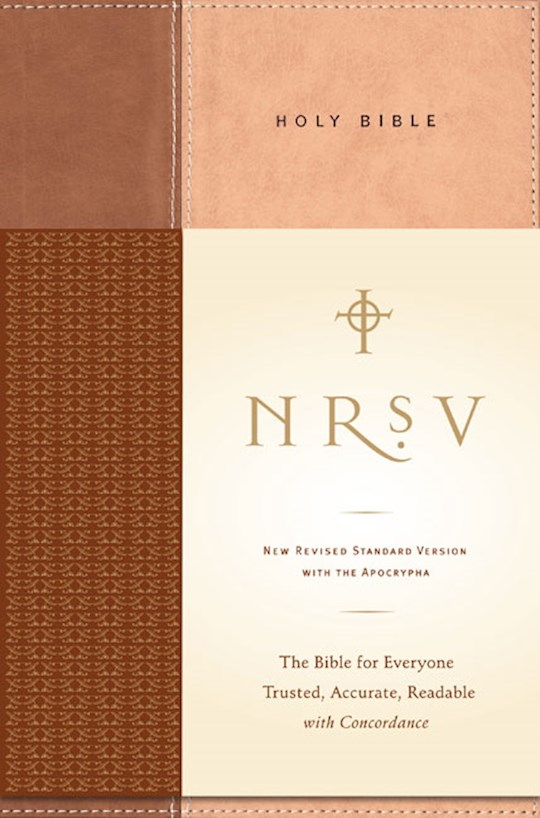 NRSV Standard Bible w/Apocrypha-Tan/Brown Hardcover   SHOPtheWORD