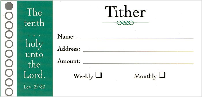 Offering Envelope-Tither (Leviticus 27:32) (Bill-Size) (Pack Of 100) | SHOPtheWORD