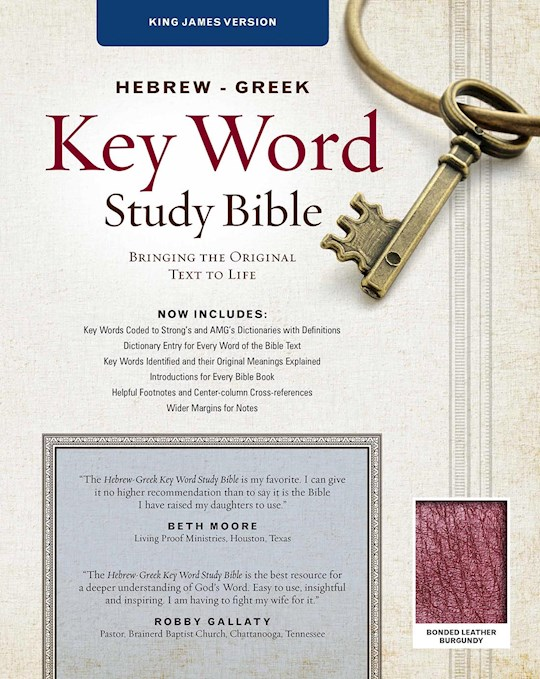 KJV Hebrew-Greek Key Word Study-Burgundy Bonded Leather | SHOPtheWORD