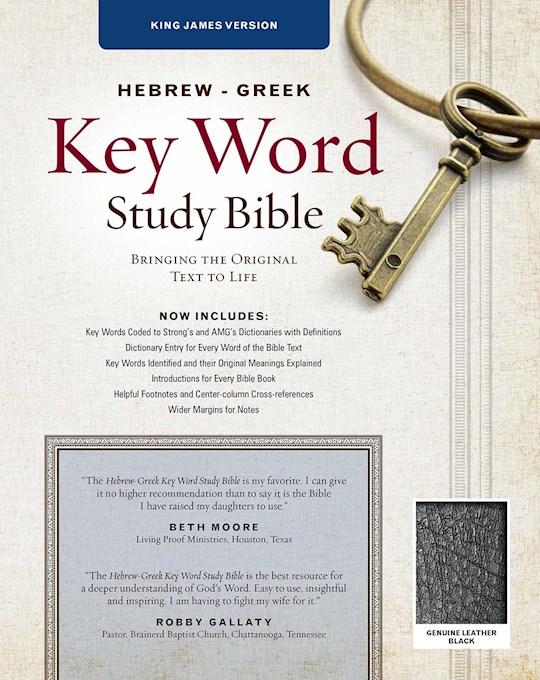 KJV Hebrew-Greek Key Word Study-Black Genuine Leather | SHOPtheWORD