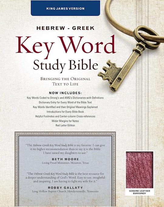 KJV Hebrew-Greek Key Word Study-Burgundy Genuine Leather (New) | SHOPtheWORD