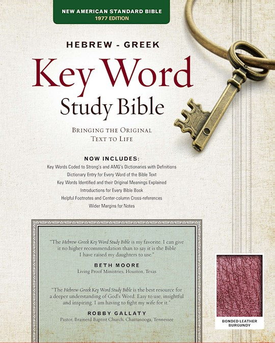 NASB Hebrew-Greek Key Word Study-Burgundy Bonded Leather (New) | SHOPtheWORD