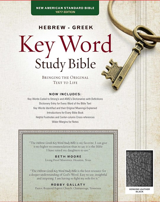 NASB Hebrew-Greek Key Word Study-Black Genuine Leather | SHOPtheWORD