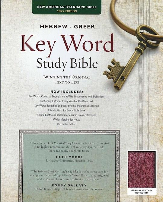 NASB Hebrew-Greek Key Word Study-Burgundy Genuine Leather (New) | SHOPtheWORD