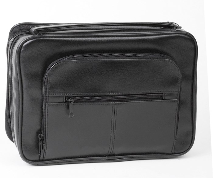 Bible Cover-Deluxe Organizer w/Study Kit-X Large-Black | SHOPtheWORD