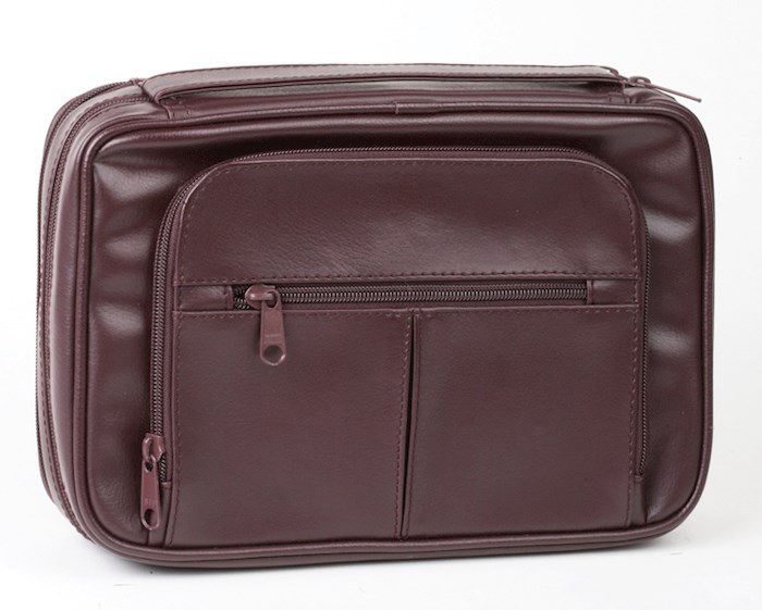 Bible Cover-Deluxe Organizer w/Study Kit-X Large-Burgundy   SHOPtheWORD