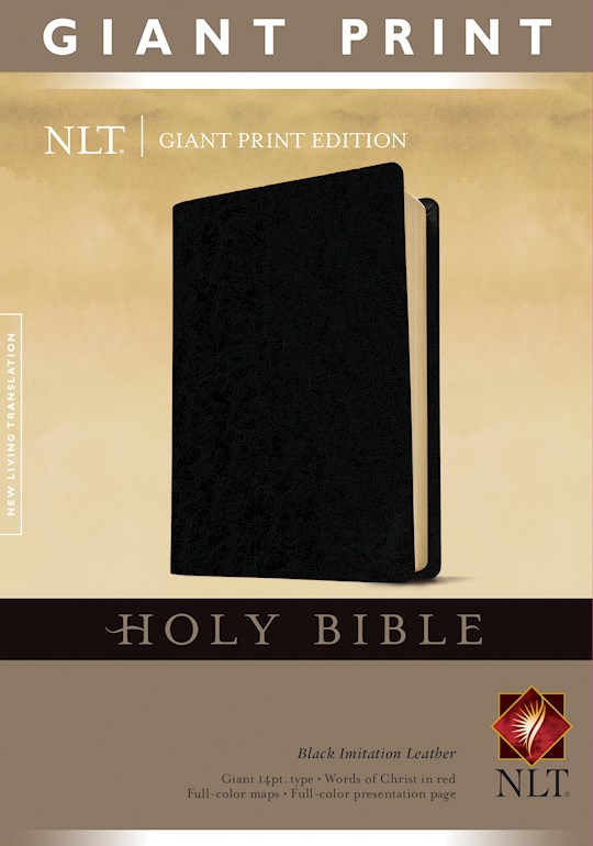 NLT Giant Print Bible-Black Imitation | SHOPtheWORD