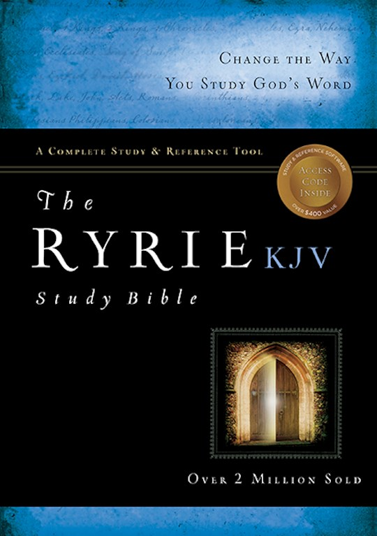 KJV Ryrie Study Bible-Black Genuine Leather Indexed | SHOPtheWORD