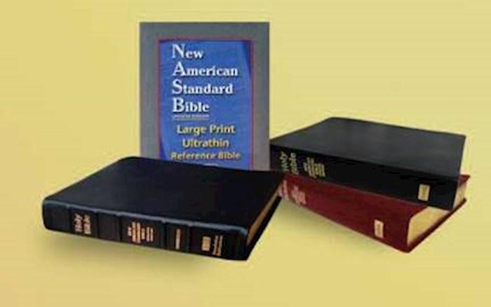 NASB Large Print Ultrathin Reference Bible-Black Bonded Leather | SHOPtheWORD