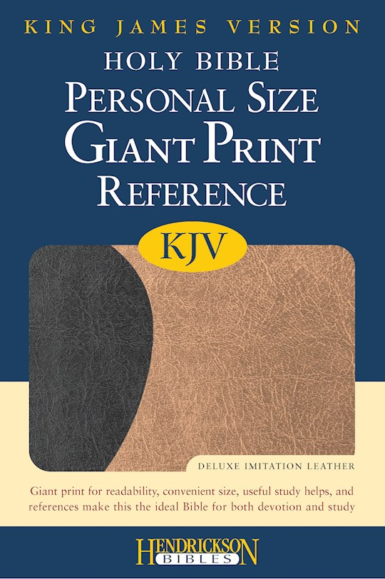 KJV Personal Size Giant Print Reference Bible-Black/Tan Flexisoft (Value Price) | SHOPtheWORD