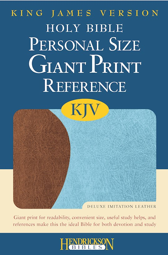 KJV Personal Size Giant Print Reference Bible-Chocolate/Blue Flexisoft (Value Price) | SHOPtheWORD