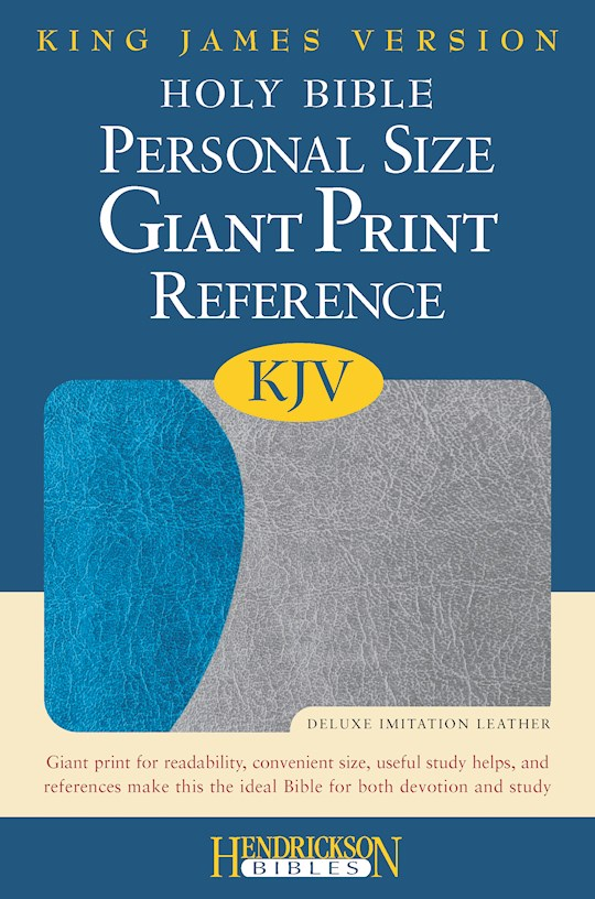 KJV Personal Size Giant Print Reference Bible-Blue/Gray Flexisoft (Value Price) | SHOPtheWORD