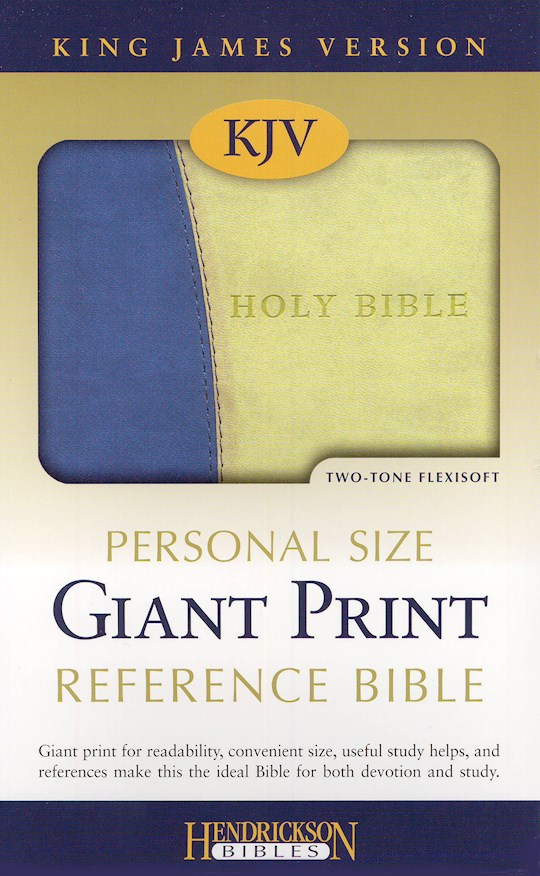 KJV Personal Size Giant Print Reference Bible-Blue/Green Flexisoft (Value Price) | SHOPtheWORD