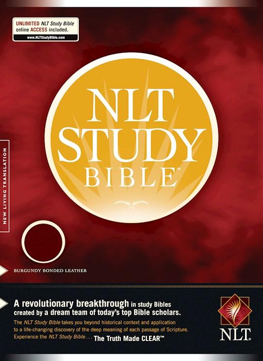 NLT Study Bible-Burgundy Bonded Leather | SHOPtheWORD