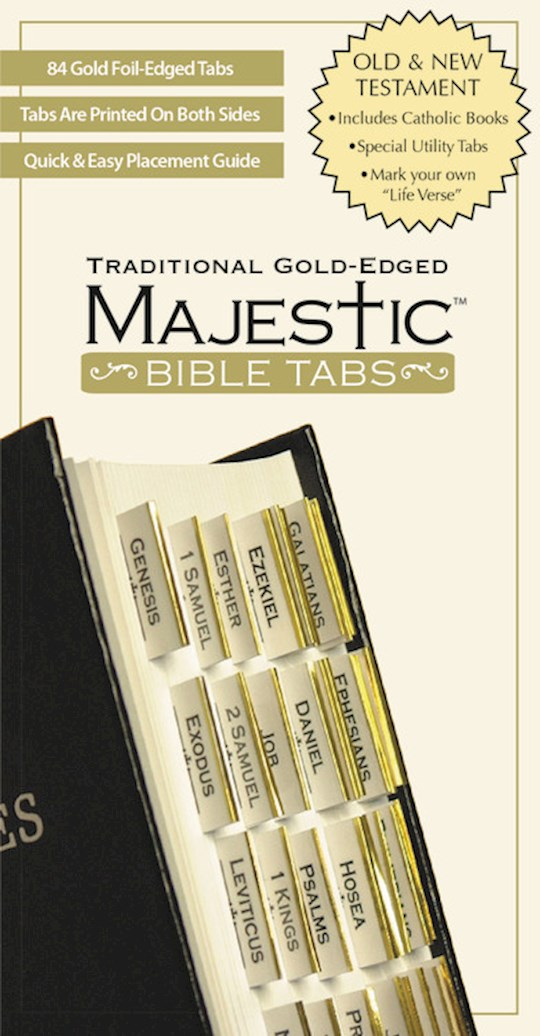 Bible Tab-Majestic-Traditional Gold Edged   SHOPtheWORD