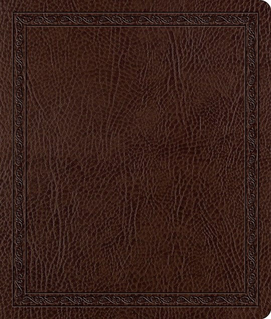 ESV Journaling Bible-Mocha Threshold Design Bonded Leather | SHOPtheWORD