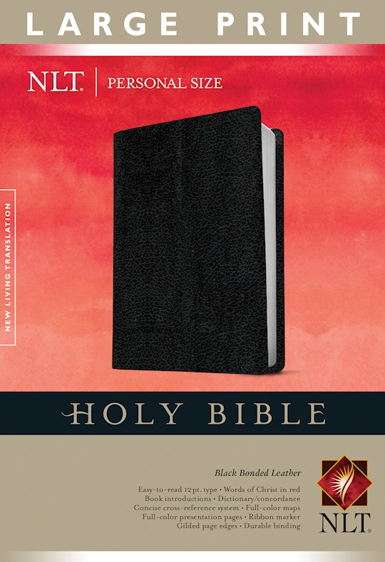 NLT Personal Size Large Print Bible-Black Bonded Leather | SHOPtheWORD