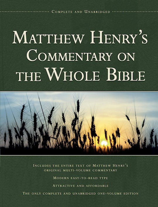 Matthew Henry's Commentary 1V-Complete (Value Price) by Matthew Henry | SHOPtheWORD
