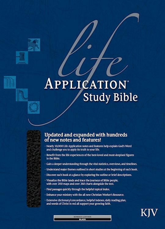 KJV Life Application Study Bible-Black Bonded Leather Indexed | SHOPtheWORD