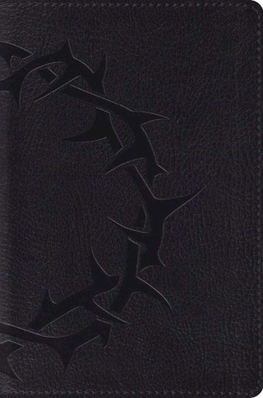 ESV Compact Bible-Charcoal Crown Design TruTone  | SHOPtheWORD