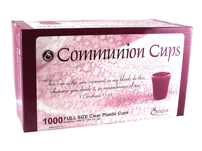 "Communion-Cup-Disposable-Clear 1-3/8"" (Pack Of 1000) 