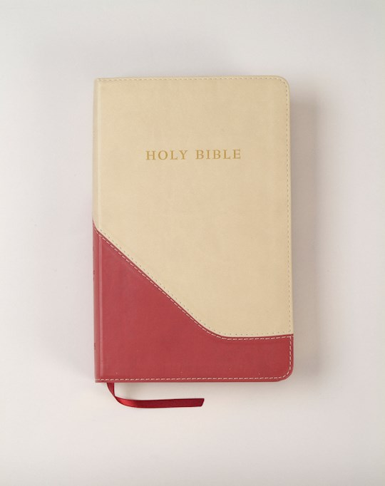 KJV Personal Size Giant Print Reference Bible-Brick Red/Sand Flexisoft (Value Price) | SHOPtheWORD