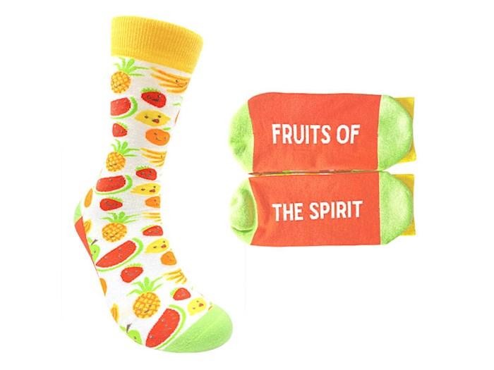 Socks-Fruits Of The Spirit (Fits Men Sizes 8-13 & Women 9 & Up)   SHOPtheWORD