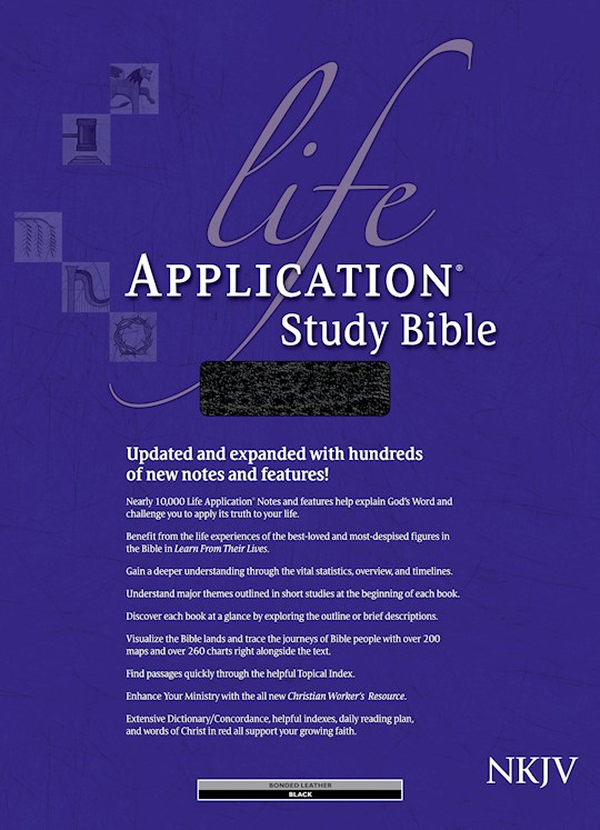 NKJV Life Application Study Bible-Black Bonded Leather Indexed | SHOPtheWORD