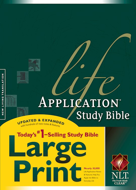NLT Life Application Study Bible/Large Print-Hardcover Indexed | SHOPtheWORD