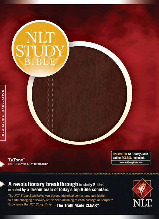 NLT Study Bible-Chocolate/Chocolate TuTone (Not Available-Out Of Print) | SHOPtheWORD