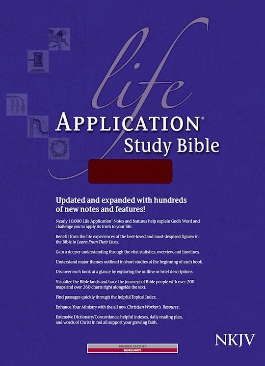 NKJV Life Application Study Bible-Burgundy Bonded Leather Indexed | SHOPtheWORD