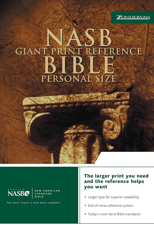 NASB Giant Print Reference Bible/Personal Size-Black Bonded Leather (Not Available-Out Of Print) | SHOPtheWORD