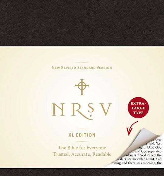 NRSV XL Edition-Large Print-Black LeatherLike | SHOPtheWORD