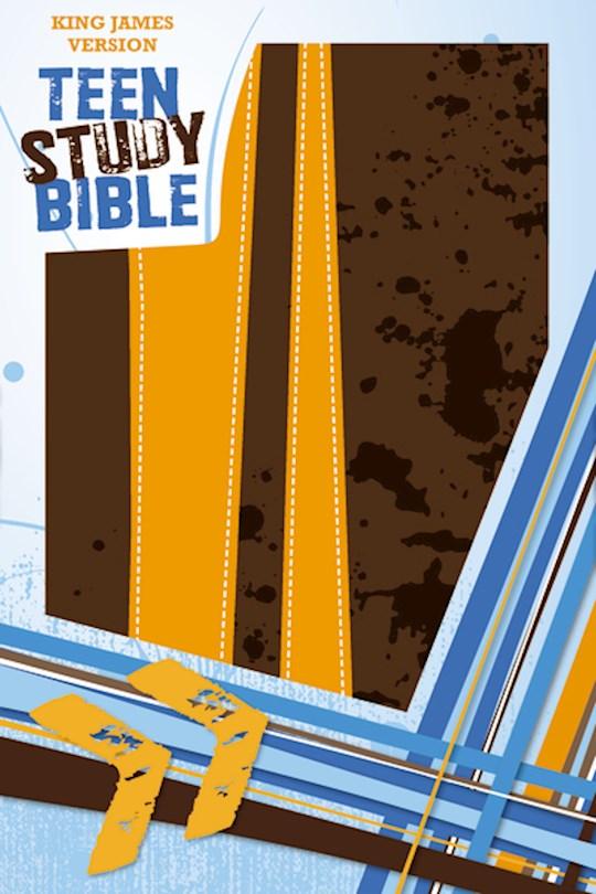 KJV Teen Study Bible-Burnt Orange/Fudge DuoTone | SHOPtheWORD