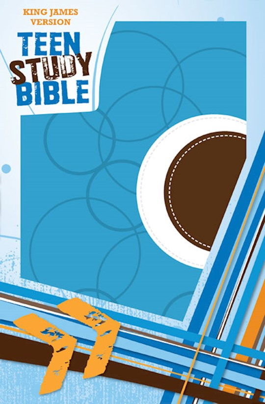 KJV Teen Study Bible-Sky Blue/Fudge DuoTone | SHOPtheWORD
