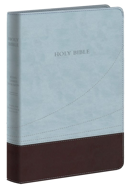 KJV Large Print Thinline Reference Bible-Chocolate/Blue Flexisoft (Value Price) | SHOPtheWORD