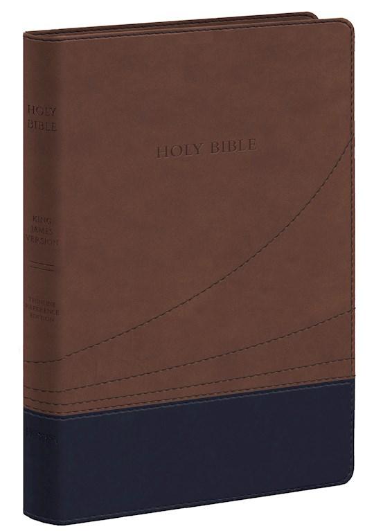 KJV Large Print Thinline Reference Bible-Cocoa/Black Flexisoft (Value Price)   SHOPtheWORD