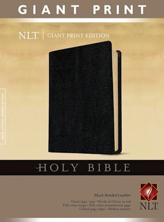 NLT Giant Print Bible-Black Bonded Leather | SHOPtheWORD